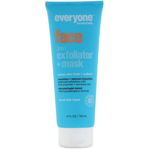 Everyone, Face, 2 in 1 Exfoliator + Mask, 4 fl oz (118 ml) Review