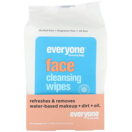 Everyone, Face, Cleansing Wipes, 30 Towelettes Review