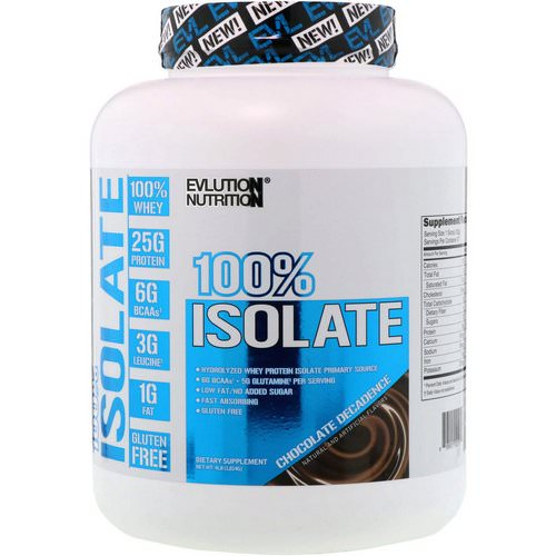 EVLution Nutrition, 100% Isolate, Chocolate Decadence, 4 lb (1814 g) Review