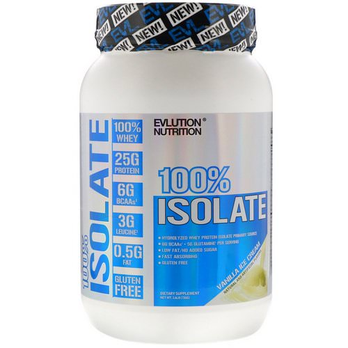 EVLution Nutrition, 100% Isolate, Vanilla Ice Cream, 1.6 lb (726 g) Review
