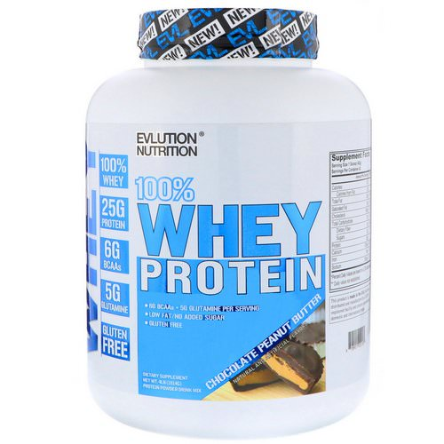 EVLution Nutrition, 100% Whey Protein, Chocolate Peanut Butter, 4 lb (1814 g) Review