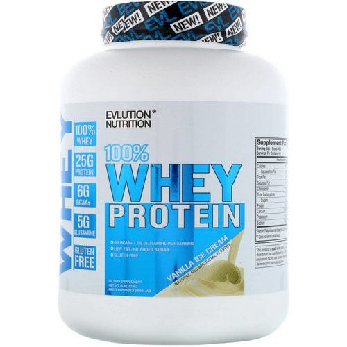 EVLution Nutrition, 100% Whey Protein, Vanilla Ice Cream, 4 lb (1814 g) Review