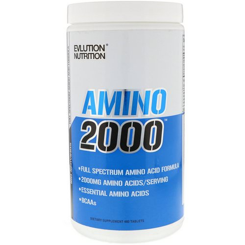 EVLution Nutrition, Amino 2000, 480 Tablets Review