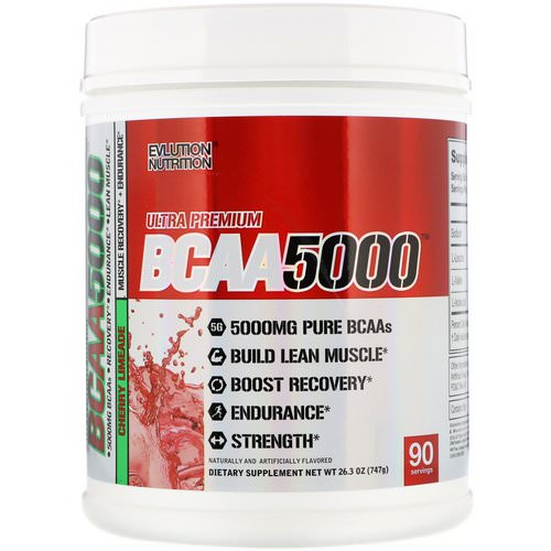 EVLution Nutrition, BCAA 5000, Cherry Limeade, 26.3 oz (747 g) Review