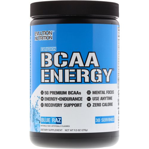 EVLution Nutrition, BCAA Energy, Blue Raz, 9.5 oz (270 g) Review
