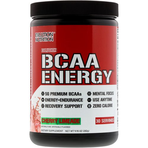 EVLution Nutrition, BCAA Energy, Cherry Limeade, 9.9 oz (282 g) Review