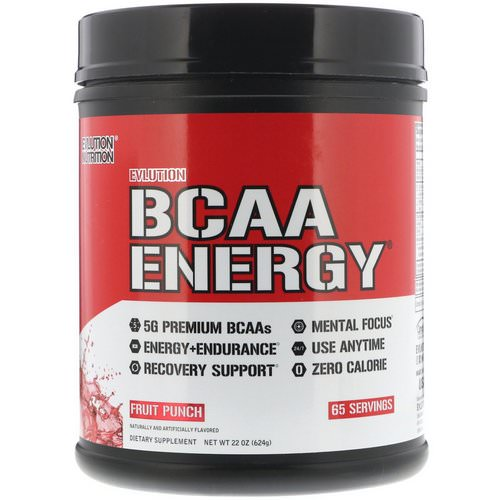 EVLution Nutrition, BCAA Energy, Fruit Punch, 22 oz (624 g) Review