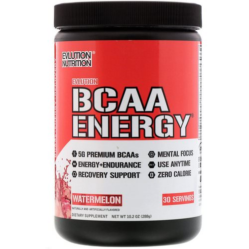 EVLution Nutrition, BCAA Energy, Watermelon, 10.2 oz (288 g) Review