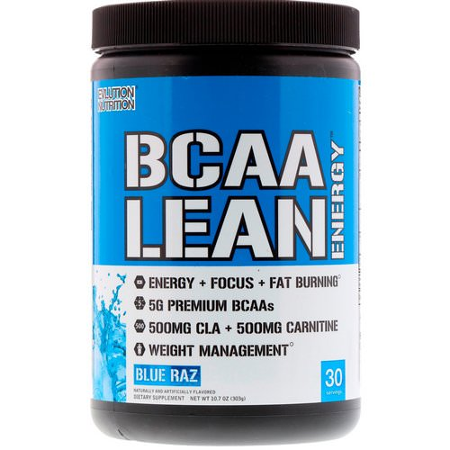 EVLution Nutrition, BCAA Lean Energy, Blue Raz, 11.2 oz (318 g) Review