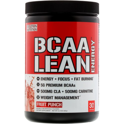EVLution Nutrition, BCAA Lean Energy, Fruit Punch, 11.8 oz (336 g) Review