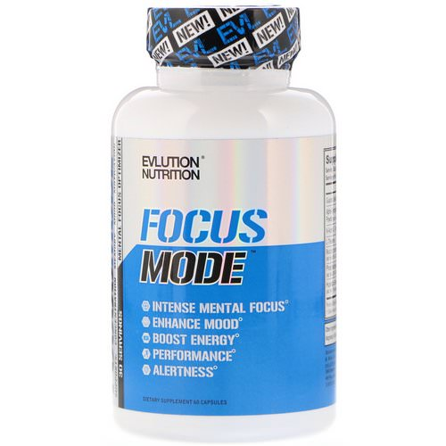 EVLution Nutrition, Focus Mode, 60 Capsules Review