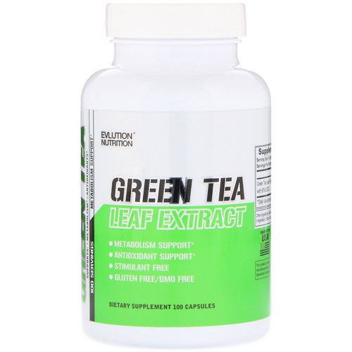 EVLution Nutrition, Green Tea Leaf Extract, 100 Capsules Review