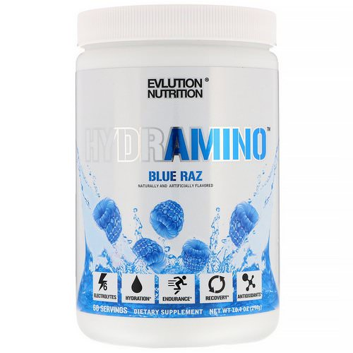 EVLution Nutrition, Hydramino, Blue Raz, 10.4 oz (294 g) Review