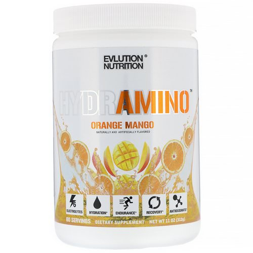 EVLution Nutrition, Hydramino, Orange Mango, 11 oz (312 g) Review