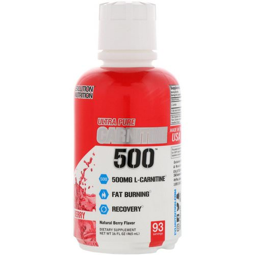 EVLution Nutrition, Carnitine500, Natural Berry, 16 fl oz (465 ml) Review