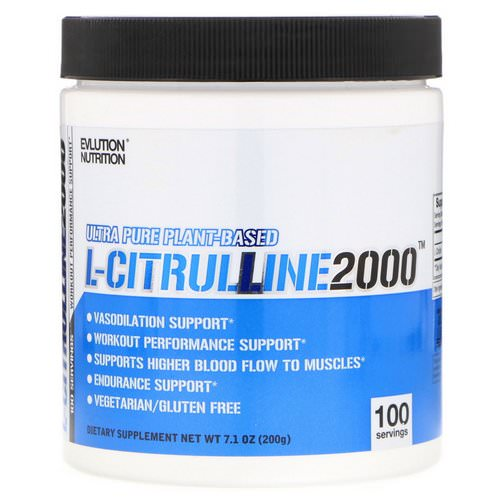 EVLution Nutrition, L-Citrulline 2000, 7.1 oz (200 g) Review