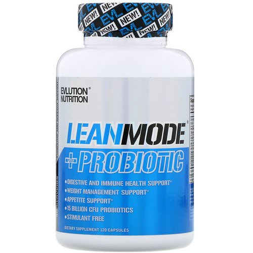 EVLution Nutrition, LeanMode + Probiotic, 120 Capsules Review