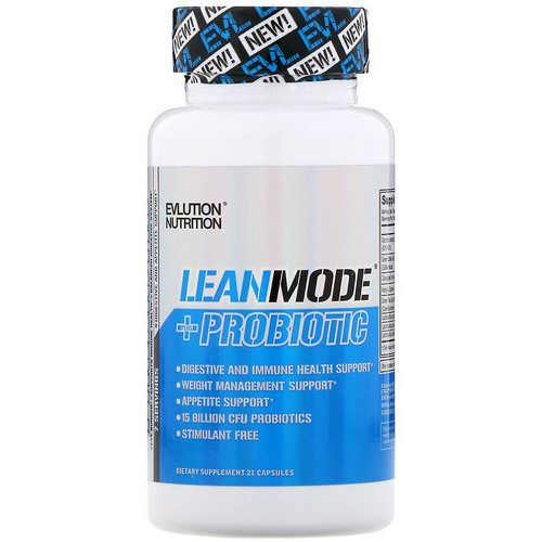 EVLution Nutrition, LeanMode + Probiotic, 21 Capsules Review