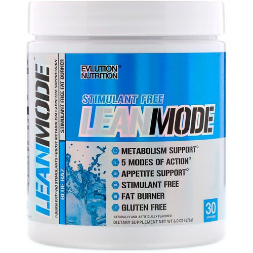 EVLution Nutrition, LeanMode, Stimulant Free Fat Burner, Blue Raz, 6.0 oz (171 g) Review