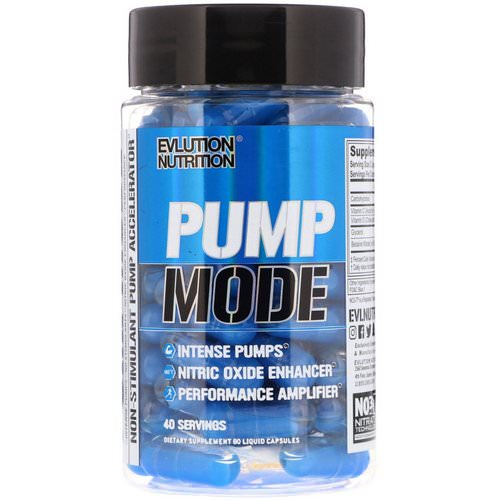 EVLution Nutrition, Pump Mode, 80 Liquid Capsules Review