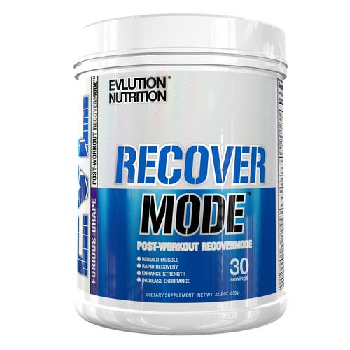 EVLution Nutrition, Recover Mode, Post-Workout RecoverMode, Furious Grape, 22.2 oz (630 g) Review