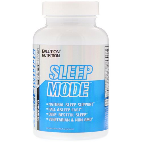 EVLution Nutrition, SleepMode, Natural Sleep Support, 60 Capsules Review