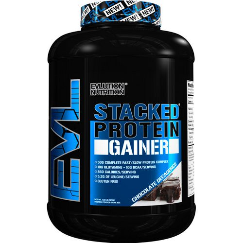 EVLution Nutrition, Stacked Protein Gainer, Chocolate Decadence, 7.23 lb (3276 g) Review
