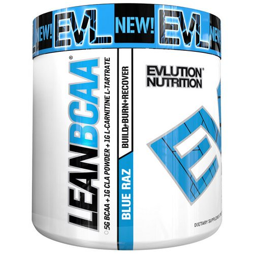 EVLution Nutrition, Stimulant Free Lean BCAA, Fat Burner, Endurance, Recovery, Build Muscle, Blue Raz, 9.4 oz (267 g) Review