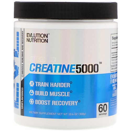 EVLution Nutrition, Ultra Pure Creatine5000, Unflavored, 5,000 mg, 10.6 oz (300 g) Review