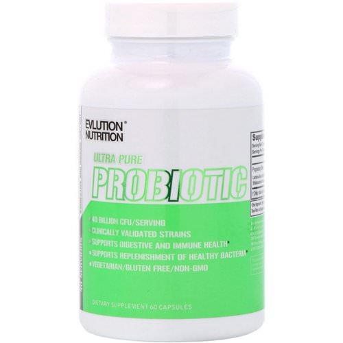 EVLution Nutrition, Ultra Pure Probiotic, 40 Billion CFU, 60 Capsules Review