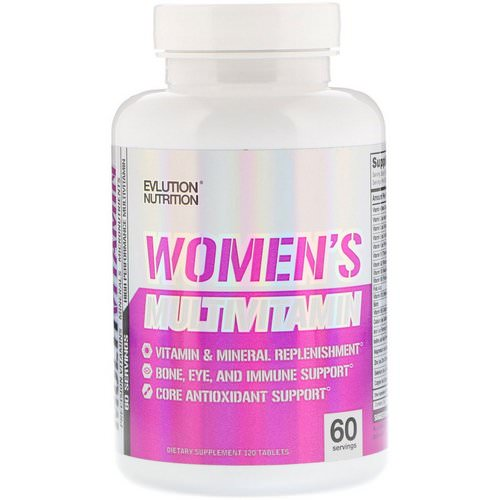 EVLution Nutrition, Women's Multivitamin, 120 Tablets Review