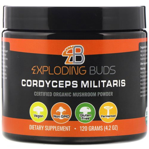 Exploding Buds, Cordyceps Militaris, Certified Organic Mushroom Powder, 4.2 oz (120 g) Review
