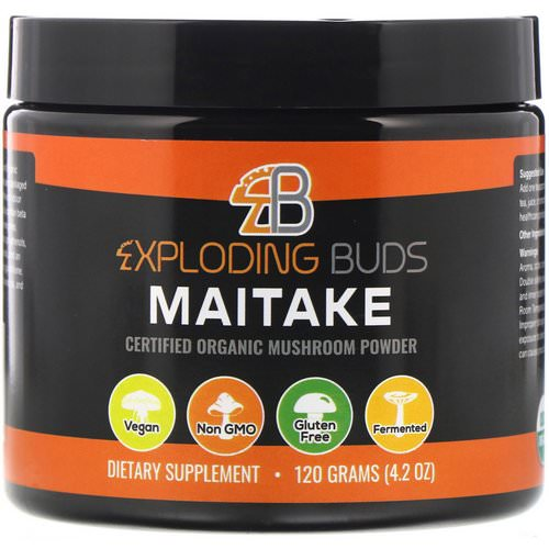 Exploding Buds, Maitake, Certified Organic Mushroom Powder, 4.2 oz (120 g) Review