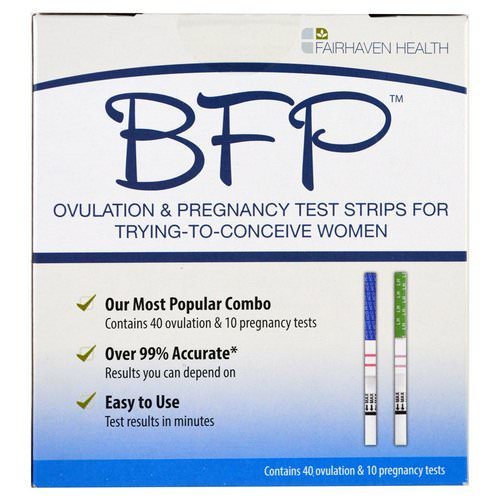 Fairhaven Health, BFP, Ovulation & Pregnancy Test Strips For Trying-To-Conceive Women, 40 Ovulation & 10 Pregnancy Tests Review