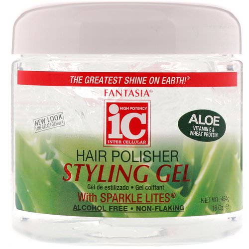 Fantasia, IC, Hair Polisher, Styling Gel with Sparkle Lites, 16 oz (454 g) Review