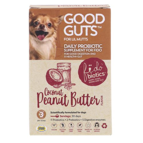 Fidobiotics, Good Guts, Daily Probiotic, For Lil Mutts, Coconut Peanut Butter, 3 Billion CFUs, 0.5 oz (15 g) Review