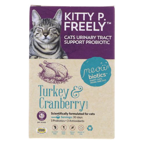 Fidobiotics, Kitty P. Freely, Cats Urinary Tract, Support Probiotic, Turkey & Cranberry, 1 Billion CFUs, 0.5 oz (14.5 g) Review