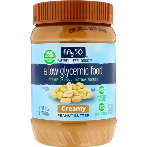 Fifty 50, Low Glycemic Peanut Butter, Creamy, 18 oz (510 g) Review