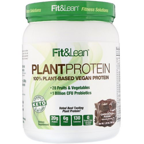 Fit & Lean, Plant Protein, Chocolate Fudge, 1.25 lb (565.5 g) Review