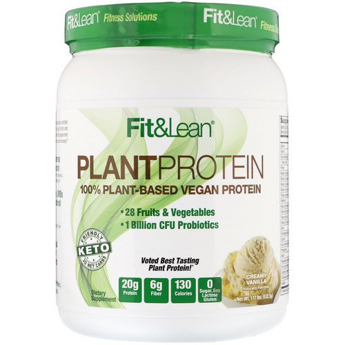 Fit & Lean, Plant Protein, Creamy Vanilla, 1.17 lb (532.5 g) Review