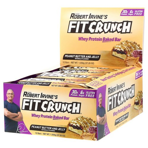FITCRUNCH, Whey Protein Baked Bar, Peanut Butter and Jelly, 12 Bars, 3.10 oz (88 g) Each Review