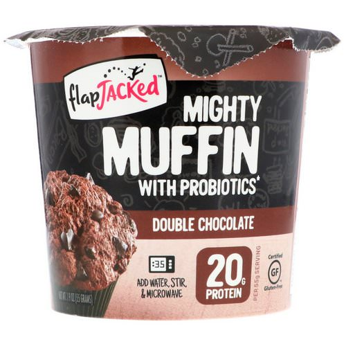 FlapJacked, Mighty Muffin with Probiotics, Double Chocolate, 1.94 oz (55 g) Review