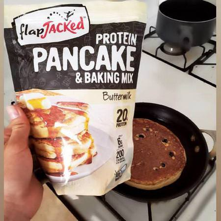 FlapJacked, Protein Pancake and Baking Mix, Buttermilk, 12 oz (340 g) Review