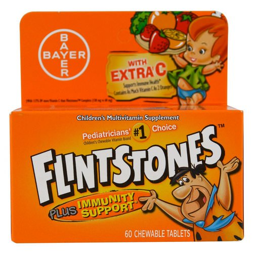 Flintstones, Children's Multivitamin, Plus Immune Support, Fruit Flavors, 60 Chewable Tablets Review