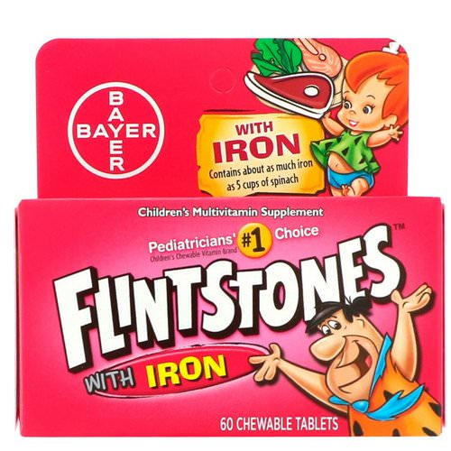 Flintstones, Children's Multivitamin with Iron, Fruit Flavors, 60 Chewable Tablets Review