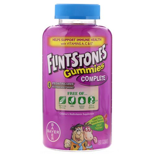 Flintstones, Complete, Children's Multivitamin, 180 Gummies Review