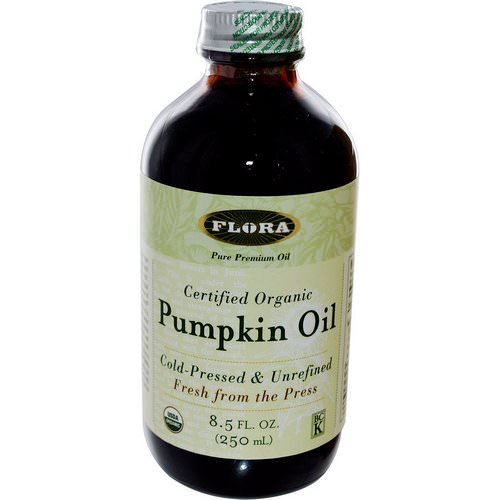 Flora, Certified Organic Pumpkin Oil, 8.5 fl oz (250 ml) Review