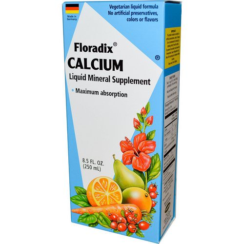Flora, Floradix, Calcium, Liquid Mineral Supplement, 8.5 fl oz (250 ml) Review