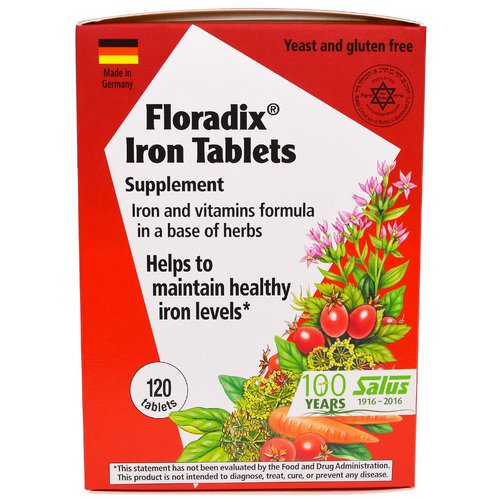 Flora, Floradix Iron Tablets Supplement, 120 Tablets Review