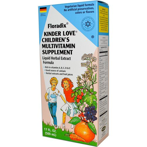 Flora, Floradix, Kinder Love, Children's Multivitamin Supplement, 17 fl oz (500 ml) Review